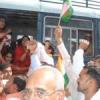 श्रमिक संगठनों का केन्द्र सरकार के खिलाफ प्रदर्शन