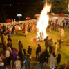 द ललित (लक्ष्मी) विलास पैलेस में होलिका दहन