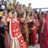 गणगौर घाट पर थिरकी महिलाएं