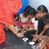 ड्याढ़ी पूज कन्याओं को कराया भोजन