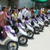 जनजाति क्षेत्र की 33 छात्राओं को स्कूटी वितरित