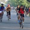 साइकिल रैली में दिखाया उत्साह