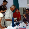 शिविर के रोगियों का परीक्षण आरंभ