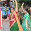 मेलड़ी माता मंदिर से निकली ध्वजा की शोभायात्रा