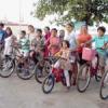 बच्चों के लिए साइकल मैराथन