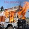 देबारी में शार्ट सर्किट से घास से भरे ट्रक में आग