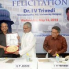 सुविवि को ए ग्रेड मिलने पर त्रिवेदी का दिल्ली में सम्मान