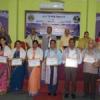 शिक्षकों व मेधावी छात्राओं का किया सम्मान