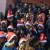 ग्रामीण स्कूली बच्चों के साथ मनाया क्रिसमस पर्व