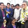 डॉ. कर्णसिंह उदयपुर पहुंचे, भव्य स्वागत