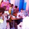 धोलीखेड़ा शिविर में 348 मरीजों की जांच