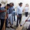 युवा मोर्चा कार्यकर्ताओं ने की गंगू की सफाई