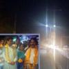 बीएसएनएल रोड पर एलईडी लाइट का उद्घाटन