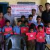 सौ बच्चों को दिये शैक्षणिक किट