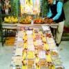 भगवान लक्ष्मीनारायण को धराया छप्पन भोग