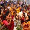 श्रीमद् भागवत में कृष्ण जन्मोत्सव पर झूमे श्रद्धालु