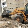 रेती स्टैंण्ड के बाहर तोड़ी़ अवैध 17 दुकानें