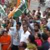 कांग्रेस ने जताया विरोध, किया प्रदर्शन