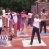 राजीव गांधी पार्क में योग शिविर