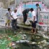 श्रमदान में झीलों से निकाला कूड़ा करकट