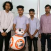 पेसिफिक के छात्रों ने बनाया बॉल बैलेंसिंग रोबोट