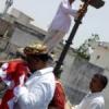 लक्ष्मीनारायण मंदिर पर ध्वजा चढा मनाया पाटोत्सव