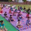 योग चिकित्सा शिविर में उमड़े ग्रामीण