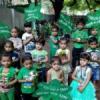 बच्चों ने हरियाली महोत्सव में किया पौधरोपण