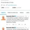 प्रधानमंत्री मोदी ने किया ट्वीट : कल उदयपुर में