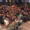 थियोसोफिकल सोसायटी के बच्चों के साथ किया गरबा