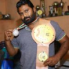 राजस्थान के पहले टाइटल बेल्ट जीतने वाले तजेंद्र का सम्मान