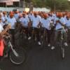 बेहतर स्वास्थ्य के लिये 250 बच्चों एवं बड़ों ने चलाई साईकिल