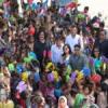रोटरी क्लब पना ने 266 गरीब बच्चों को पहनायी चप्पलें