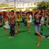 शिविर के दूसरे दिन बच्चों ने सीखा योगा