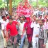 भगवती मुनि की डोल यात्रा में उमड़े श्रावक