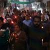 लखारा चौक व्यापार संघ ने कैडल मार्च निकाल शहीदों की दी श्रद्धांजलि